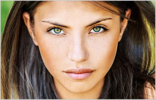 ideltipub: Weiblich braune haare grüne augen