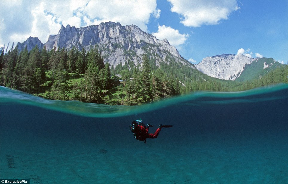 Alpine adventure: The lake is a well-known hiking destination and water levels have been steadily rising over the years