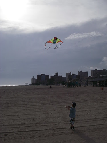 Coney Island Kid with a Kite