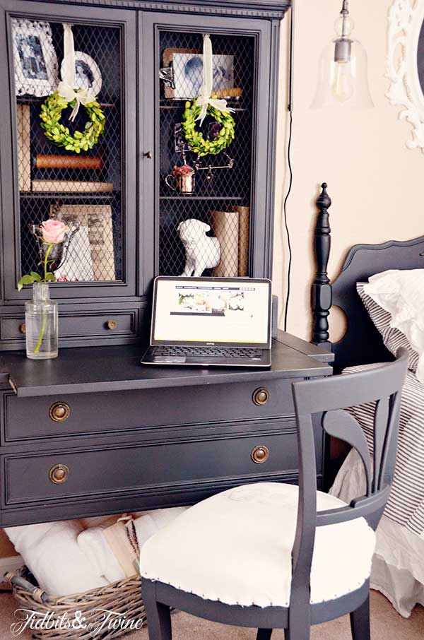 TIDBITS-&-TWINE-Guest-Bedroom-Desk-and-Chair-Closeup-From My Front Porch To Yours- How I Found My Style Sundays