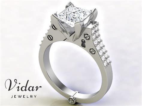 Handcuff Ring   Vidar Jewelry   Unique Custom Engagement