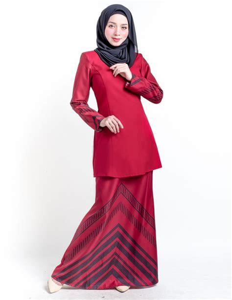 baju kurung moden raakel red lovelysuricom