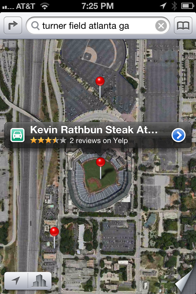 Evidently Kevin Rathbun's Steak House is just off of second base.  Watch your head!