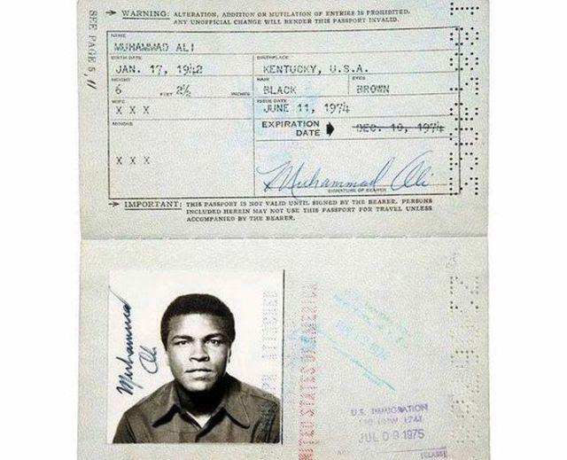 Passport Photos of Iconic Figures in History