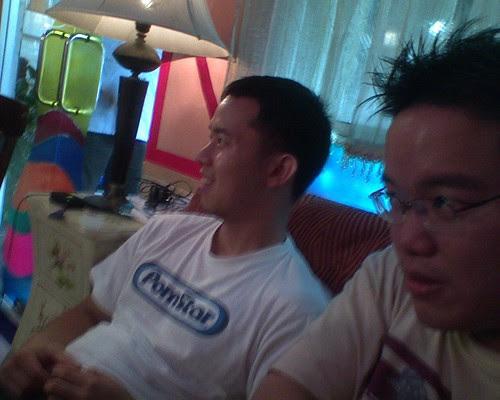 Director Woo Ming Jin and I looking at the monitor
