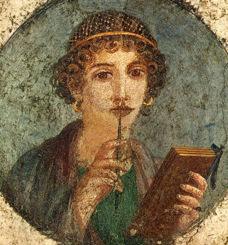 Roman painting from Pompeii, once believed to represent Sappho