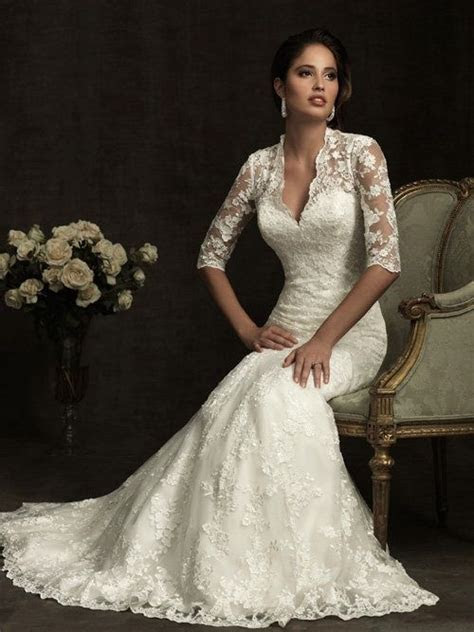 Nice wedding dress for an older bride   woman over 40 or