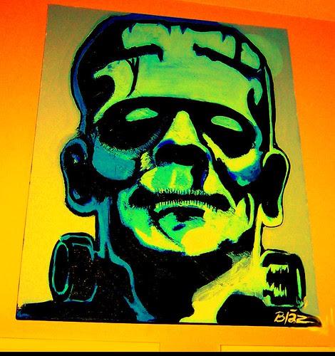 Frankenstein Painting   By Blaz