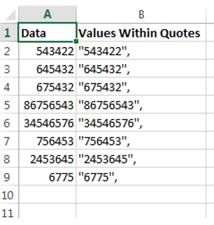 Put Value Within Quotes In Excel