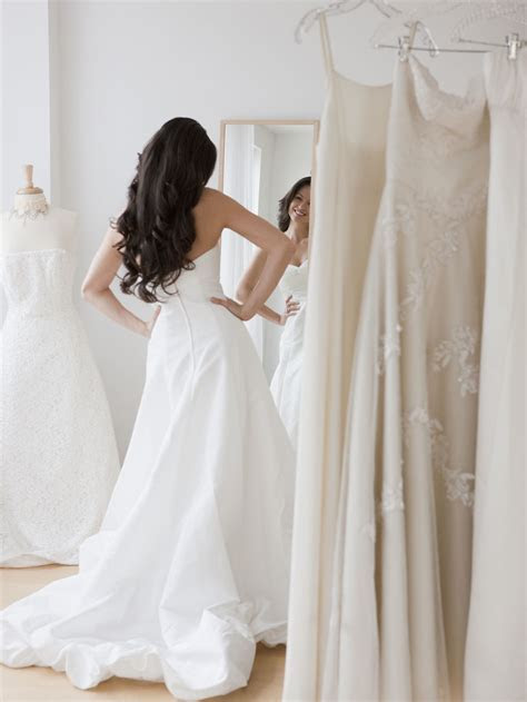 What to Wear When Trying on Wedding Dresses   Glamour