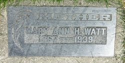 Mary Ann <i>Harris</i> Watt
