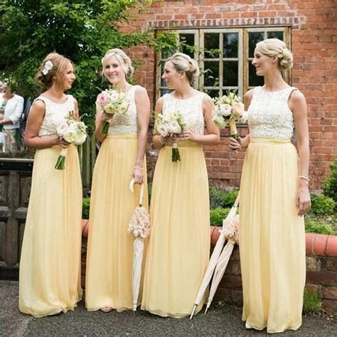 25  best ideas about Yellow bridesmaid dresses on