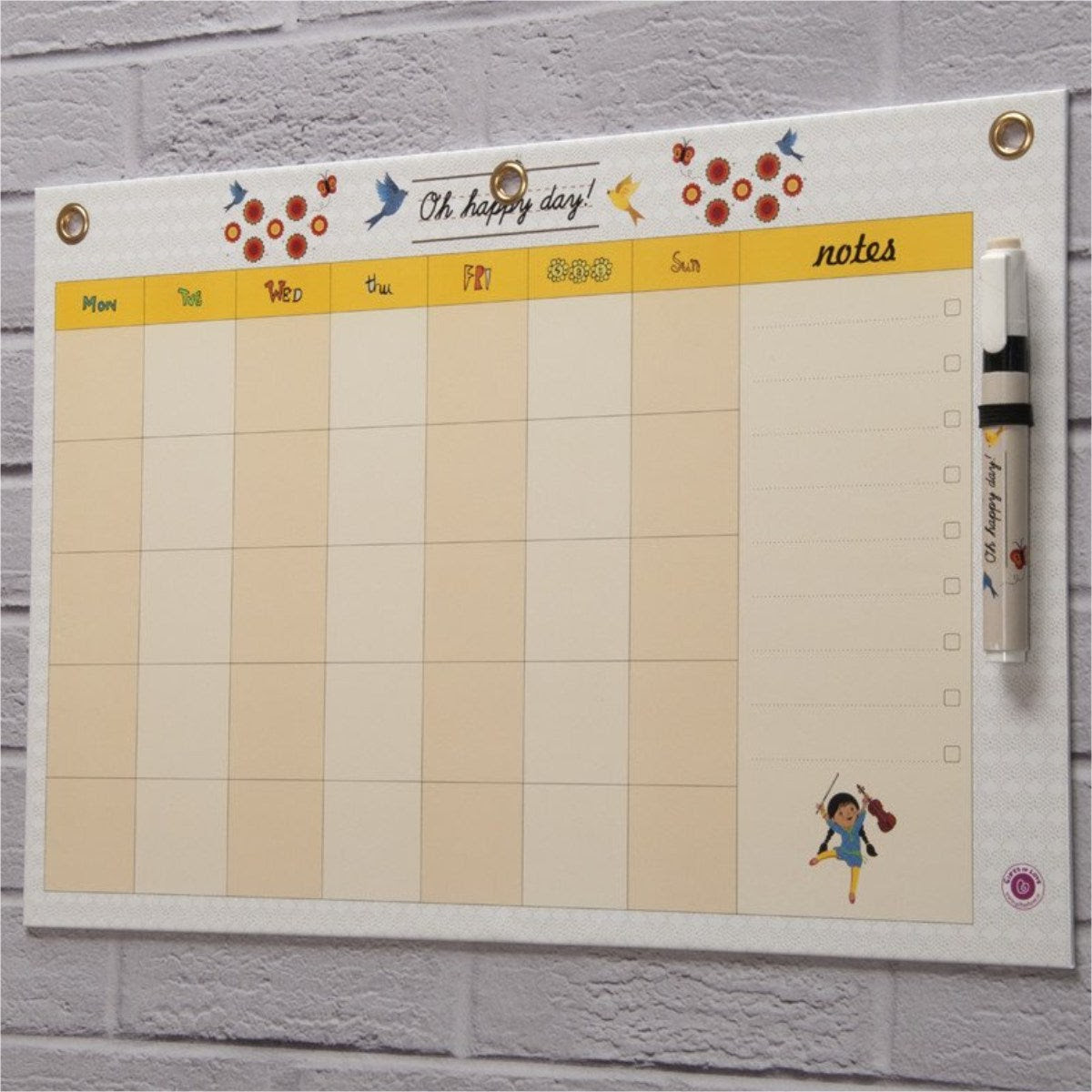 Dry Erase Board Big - Oh Happy Day Month Planner | Gifts of Love