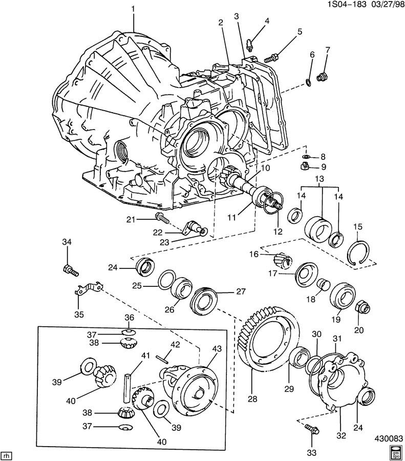 AUTOMATIC TRANSAXLE CASE & DIFFERENTIAL