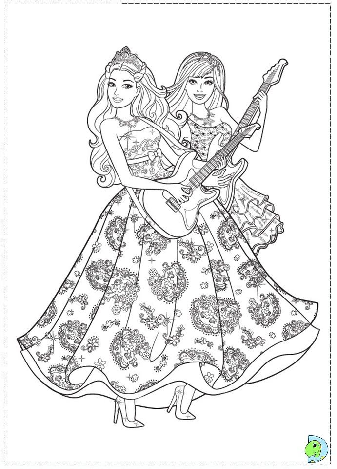 Barbie Princess Coloring Pages Coloring Home