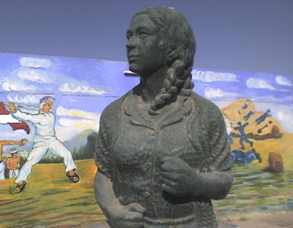 monumento catalina buendia de pecho