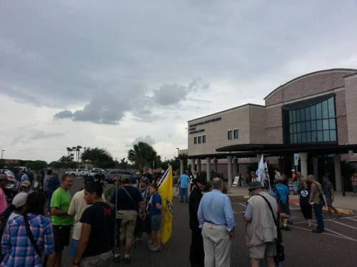 Between 75-100 people gathered to protest the arrest of Zack Horton at the McAllen Police Department. Open Carry Texas members indicate it is likely all charges will be dropped in the case in which they believe showcases McAllen PD overstepping their authority.