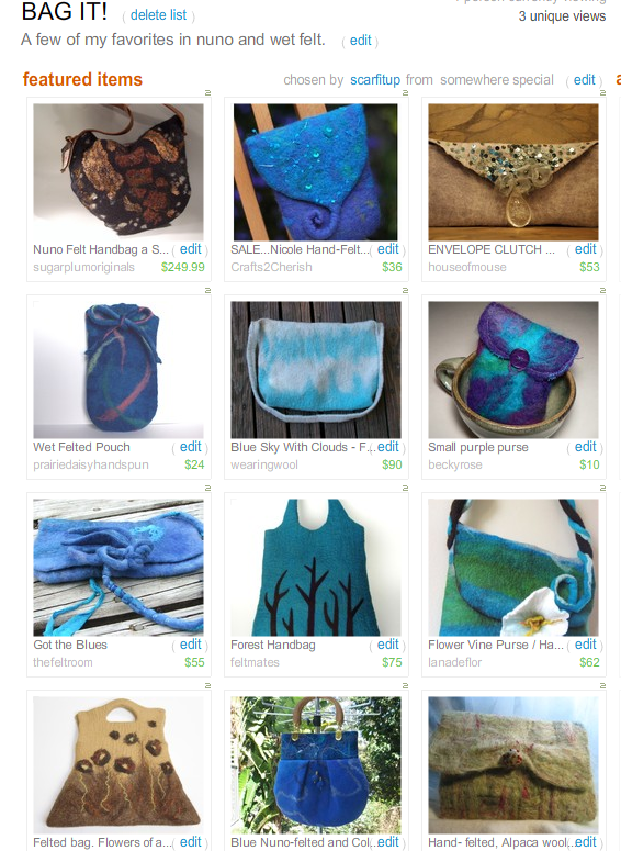 Bag It!  Treasury by Scarfitup!