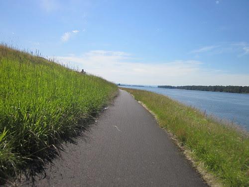 Bike path along Marine Drive