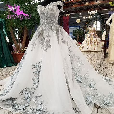 AIJINGYU Unique Wedding Gowns Plus Size Beautiful Tule