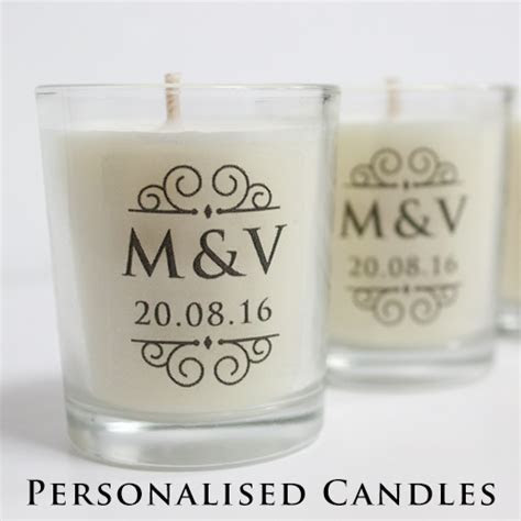 Wedding Favours : Personalised Candles    I Said Yes