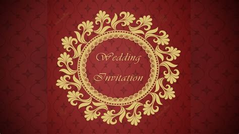 How to design a Wedding Invitation Card Front Page using