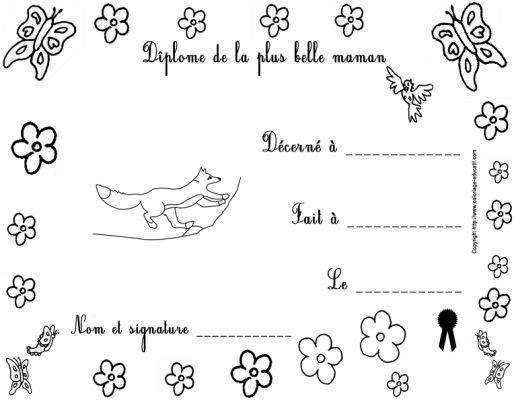 Coloriages Gratuits Fête Des Mères Page 1