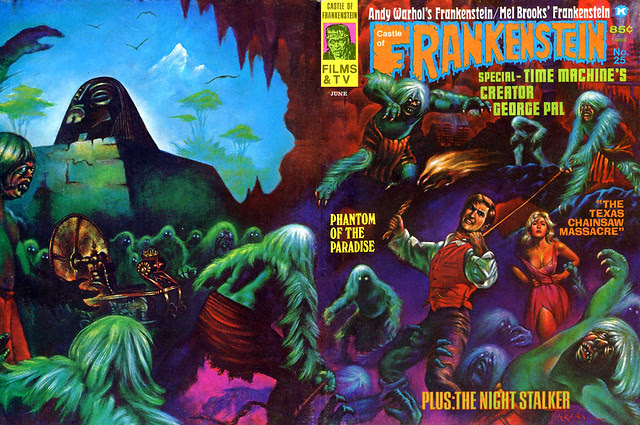 Castle Of Frankenstein, Issue 25 (1975) Cover Art by Marcus Boas