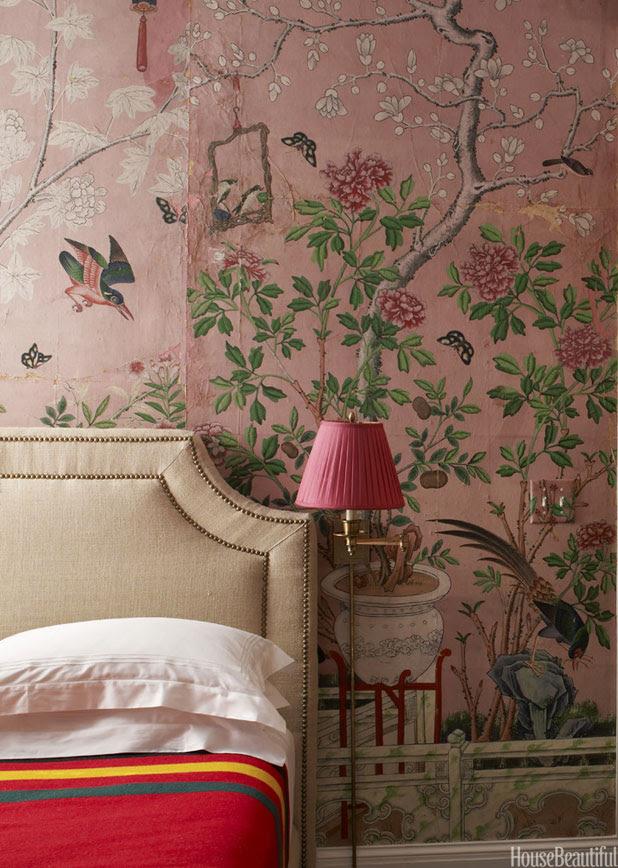 Chinoiserie Wallpaper  Handpainted Wallpaper