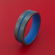 Black Zirconium Ring with Cerakote Inlay and Cerakote