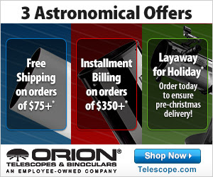Orion Offers 3 Astronomical Gift Giving Options