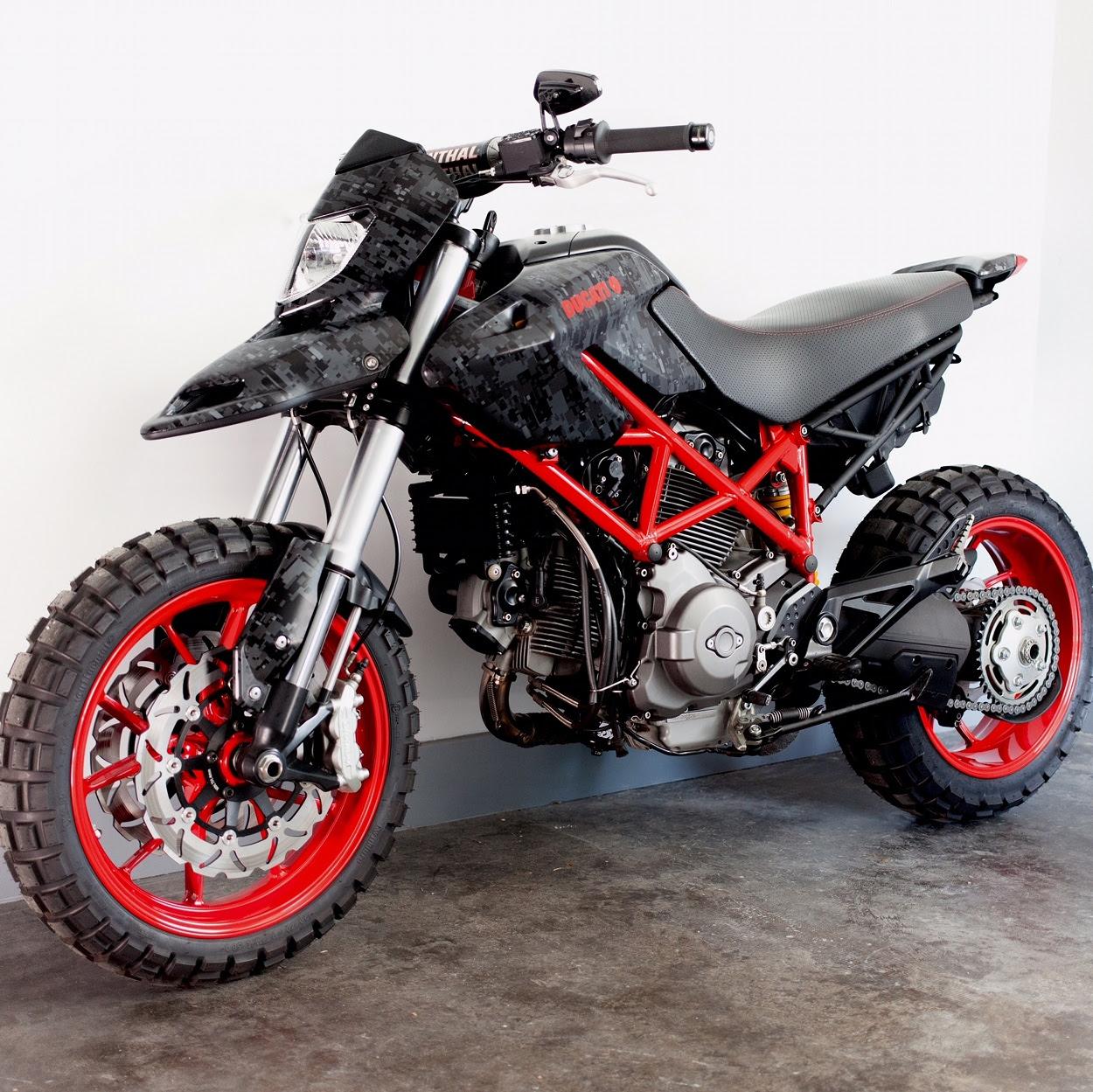Custom Ducati Hypermotard 796 By Jesse Spade Bikebound
