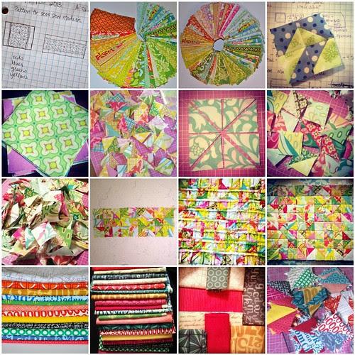 Sew Sew Modern Swap Progress Mosaic