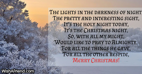 The Lights In The Dark Famous Christmas Poem