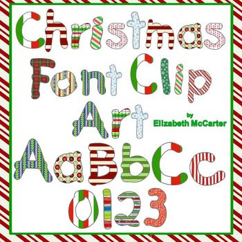 Christmas Font Clip Art