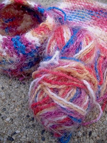 multicoloured yarn from cristina