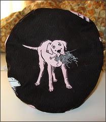 Chocolate and Pink Knit2 Bag - bottom