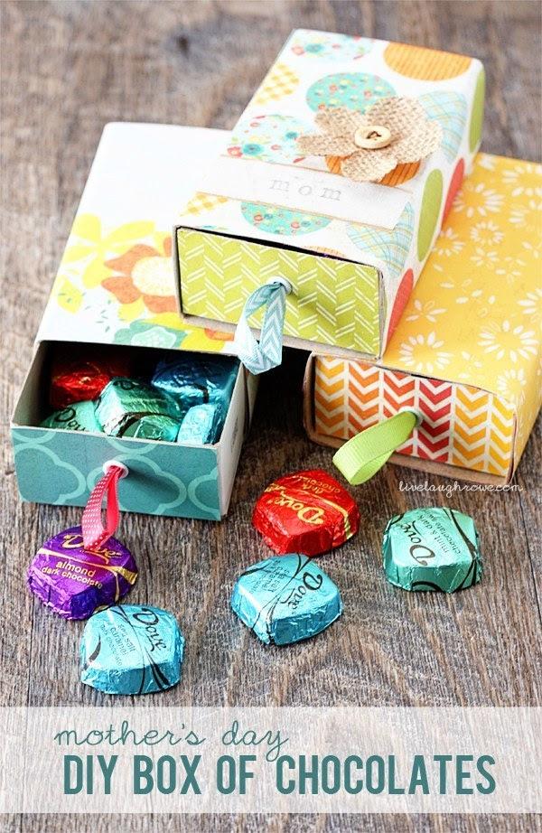 علبة شوكولاتة 2 - افكار هدية عيد الام