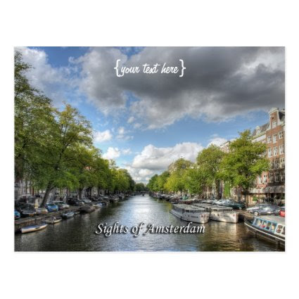 Wolvenstraat / Singel Canal, Sights of Amsterdam Postcards