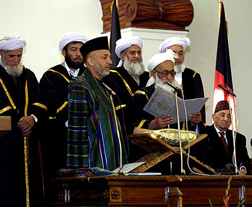 File:Inauguration of President Hamid Karzai in December 2004.jpg