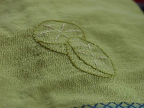 limes on a towel