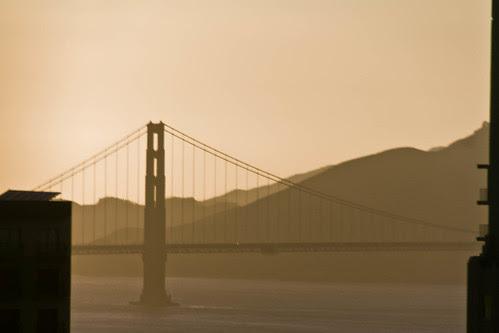 Golden Gate in sunset