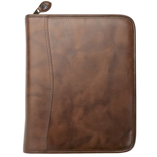 """Day-Timer Distressed Leather Zippered 1 1/2"""" Planner Cover Desk ..."""