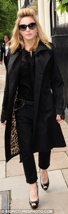 Bir gün izin alarak: Madonna öncesinde kendisini Edinburgh konserini yarın gece Londra'da tembel bir gün yaşadı