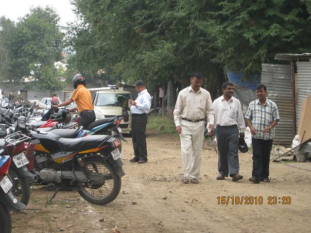 Property buyers at the site of Vastushodh's UrbanGram at Kondhawe Dhawade, near Warje, Pune