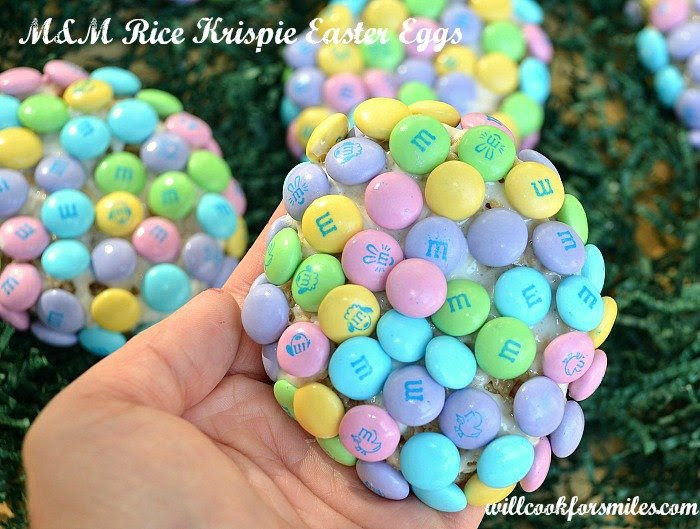M&M Rice Krispie Easter Eggs - Will Cook For Smiles