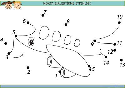 Sevimli Uçak Nokta Birleştirme Etkinliği Meb Ders