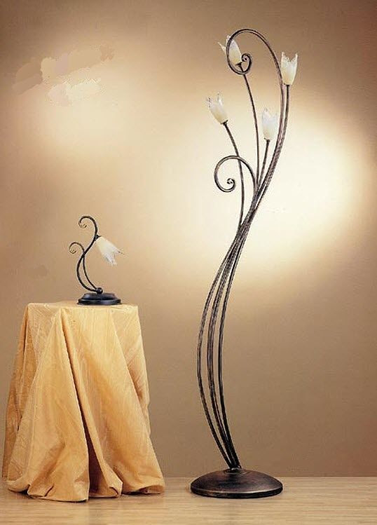 Traditional bronze floor lamp - CLARA : 010/4T - arte luce