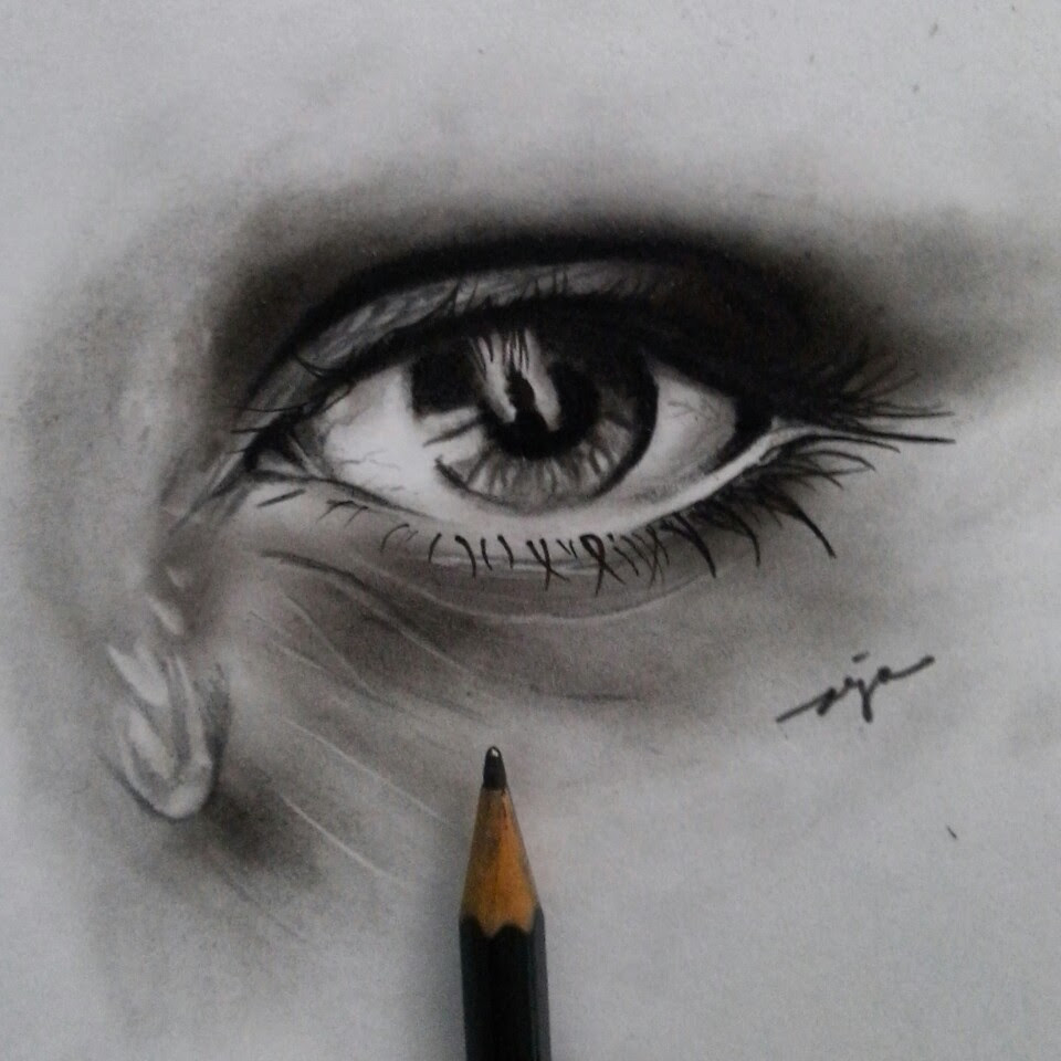 Galeri Sukarjo Sarilah Sketsa Mata Sketch Of Eye