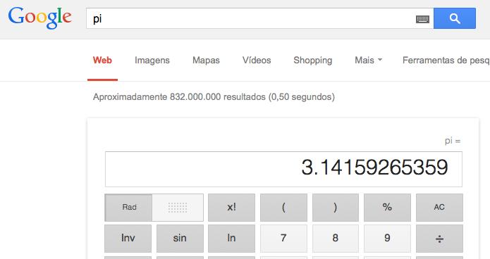 Visualizando o valor da constante Pi (Foto: Reprodução/Edivaldo Brito)